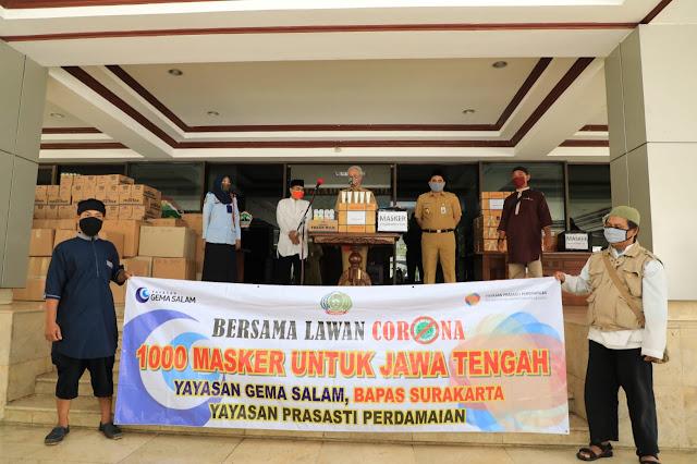 Dijahit Sendiri, Mantan Napi Theroris Sumbang 1.350 Masker untuk Masyarakat