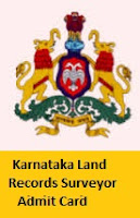 Karnataka Land Records Surveyor Admit Card