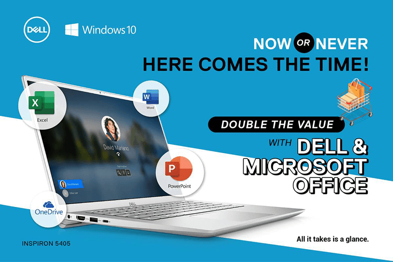 Get a FREE pre-installed Microsoft Office for selected Dell Inspiron PC and laptops!