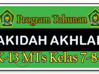 Prota Akidah Akhlak MTs Kelas 7,8,9 K13 Revisi Semester 1 - Guru Nusantara