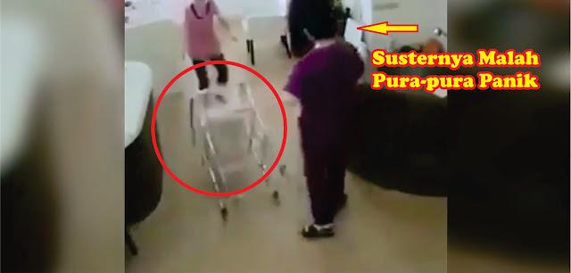 Suster Ini Terekam CCTV Rumah Sakit