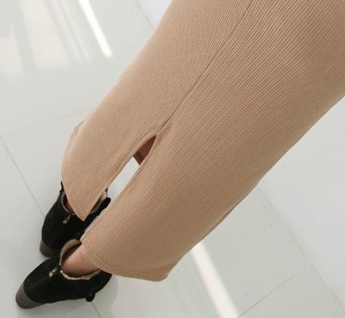Long Sleeved Scoop Neck Knit Dress