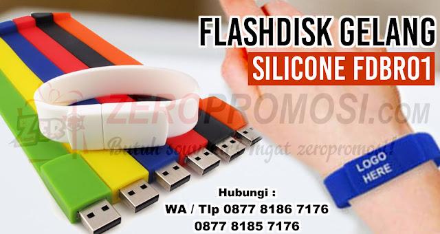 Usb Rubber - Flashdisk Gelang dengan bahan karet, FDBR 01, gelang unik USB Gelang Silicone full of Color, Flashdisk Karet Gelang Kotak FDBR01