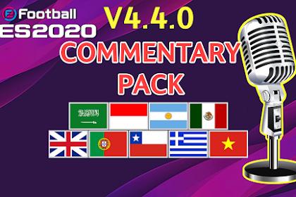 UPDATE! COMMENTARY PACK For PES 2020 Mobile V4.4.0