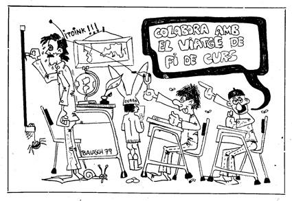 El primer dibuix de promoció a l'escola Sant Jordi de