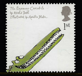 ROALD DAHL - THE ENORMOUS CROCODILE ILLUSTRATED ON 2006 STAMP