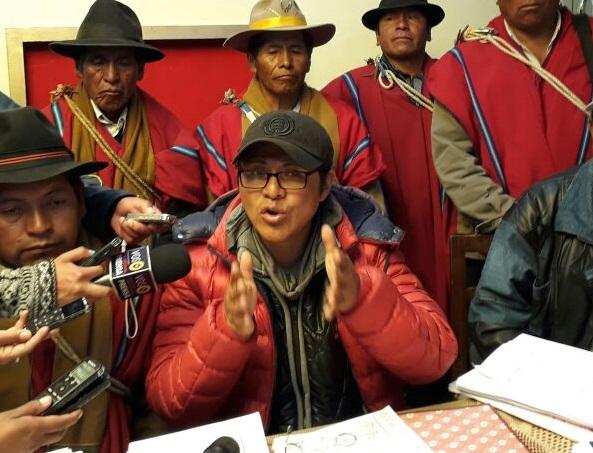 Larrazabal tomó la posta de la movilización de Achacachi luego de la aprehensión de Esnor Condori /  ARCHIVO FIDES