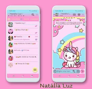 Unicorn & Rainbow Theme For YOWhatsApp & Fouad WhatsApp By Natalia Luz