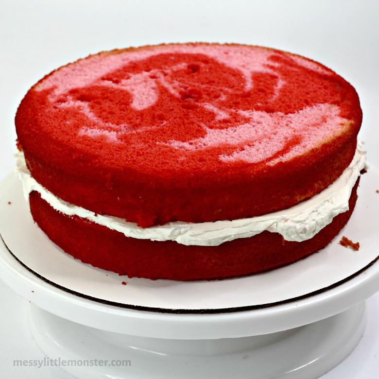 baking a layered cake