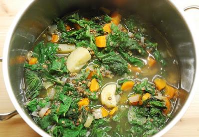 Soupe aux orties et lentilles