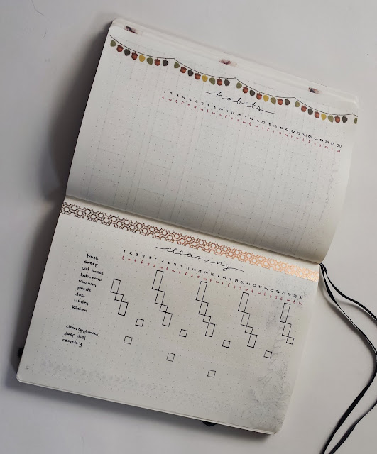 November Bullet Journal Habit Chore Tracker Layout