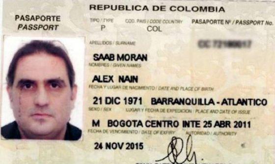Alex Saab - Copia del pasaporte