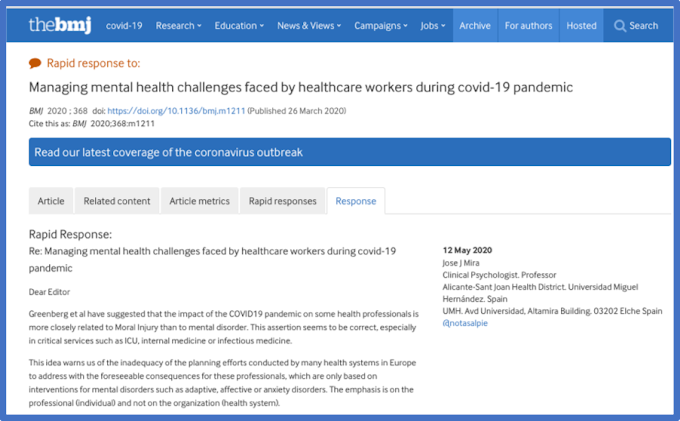 Managing mental health challenges faced by healthcare workers during covid-19 pandemic