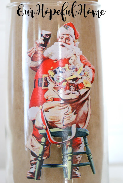 coca cola Christmas drinking glass Haddon Sundblom Santa