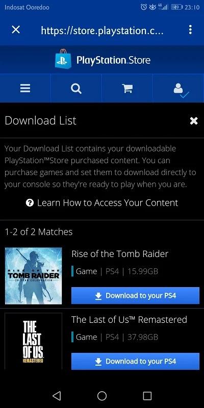setelah game berhasil dibeli, tinggal download dan instal di konsol
