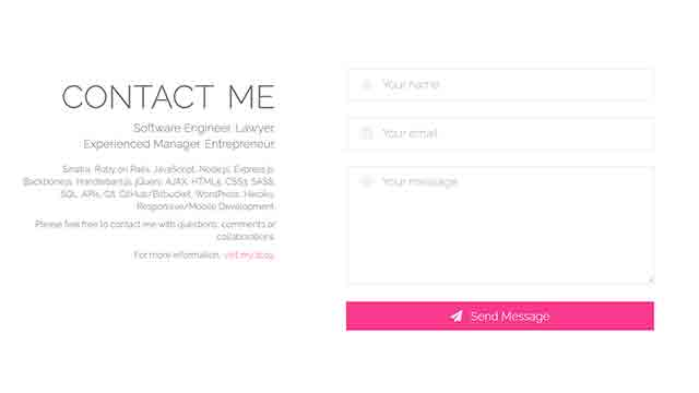 contact with footer