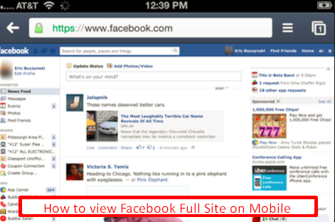 Facebook Full Site Login Android