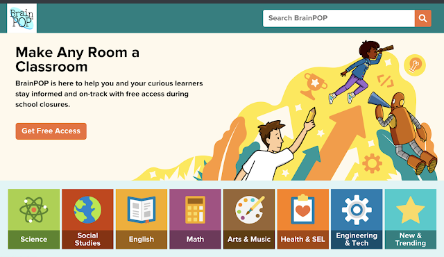 Brain Pop online learning