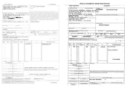 Contoh MAWB+HAWB Untuk Customs Clearence Import