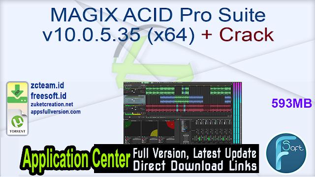 MAGIX ACID Pro Suite v10.0.5.35 (x64) + Crack
