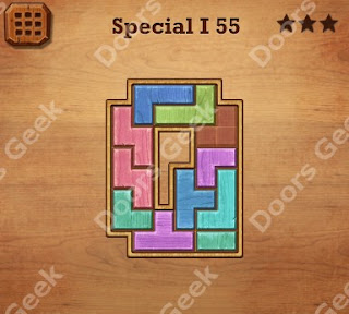 Cheats, Solutions, Walkthrough for Wood Block Puzzle Special I Level 55