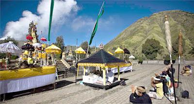 The Yadnya Kasada Ceremony Time in Mount Bromo