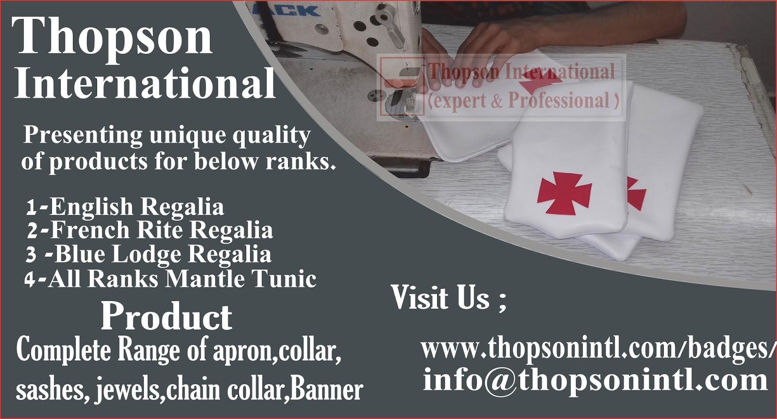 Masonic Regalia thopson: Masonic Regalia KT Alms Bag