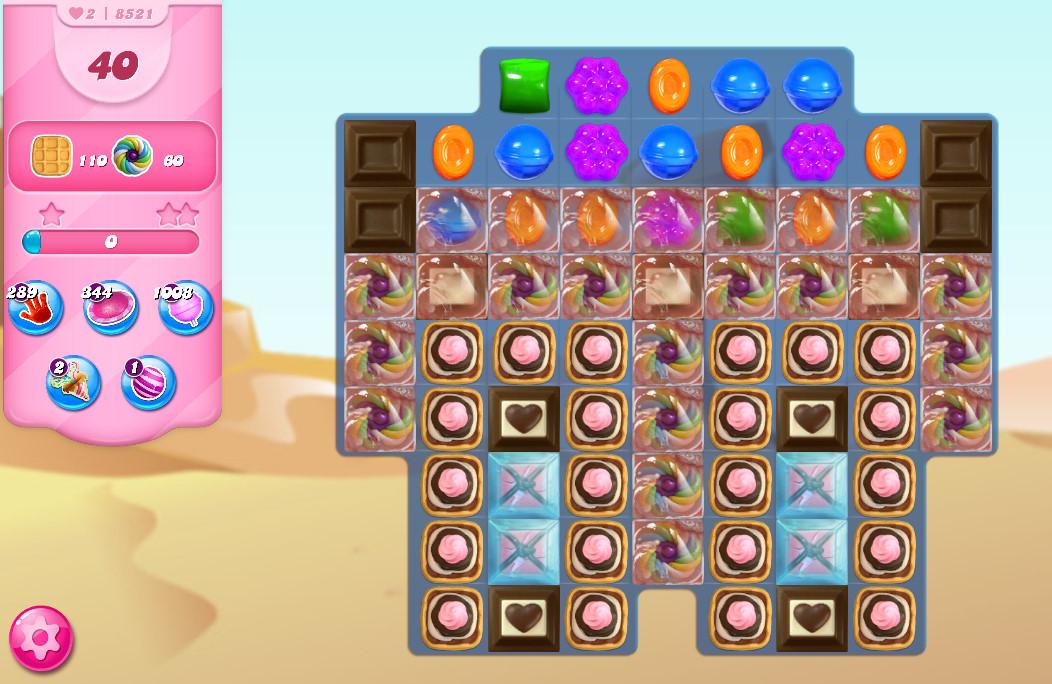 Candy Crush Saga level 8521