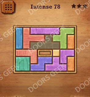 Cheats, Solutions, Walkthrough for Wood Block Puzzle Intense Level 78