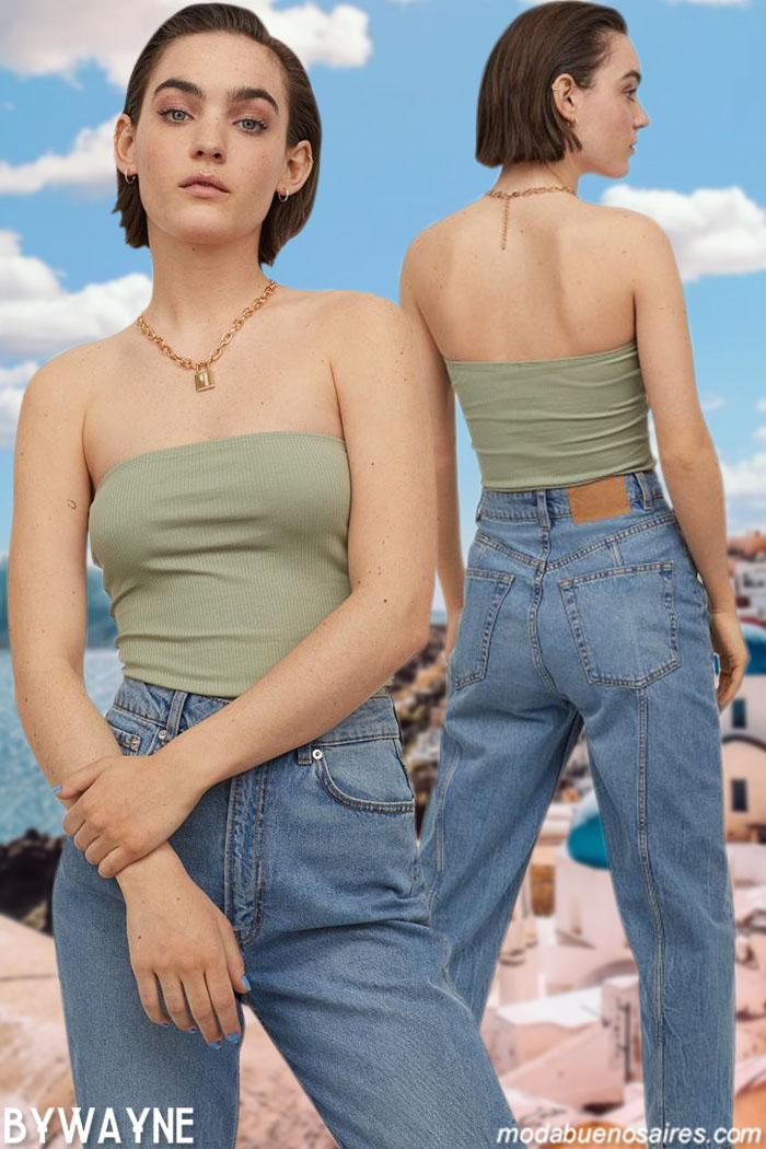 moda pantalones de jeans 2021 ropa de mujer