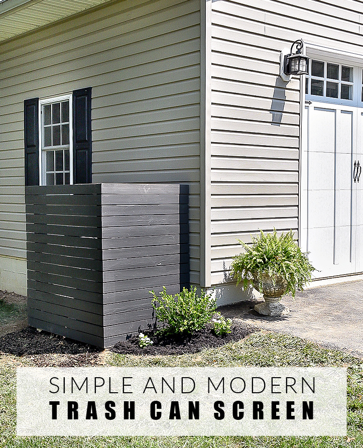 How to build a simple modern trash can screen