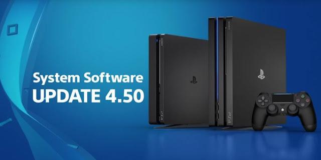 PS4 - PS4 pro update έκδοση 4.50