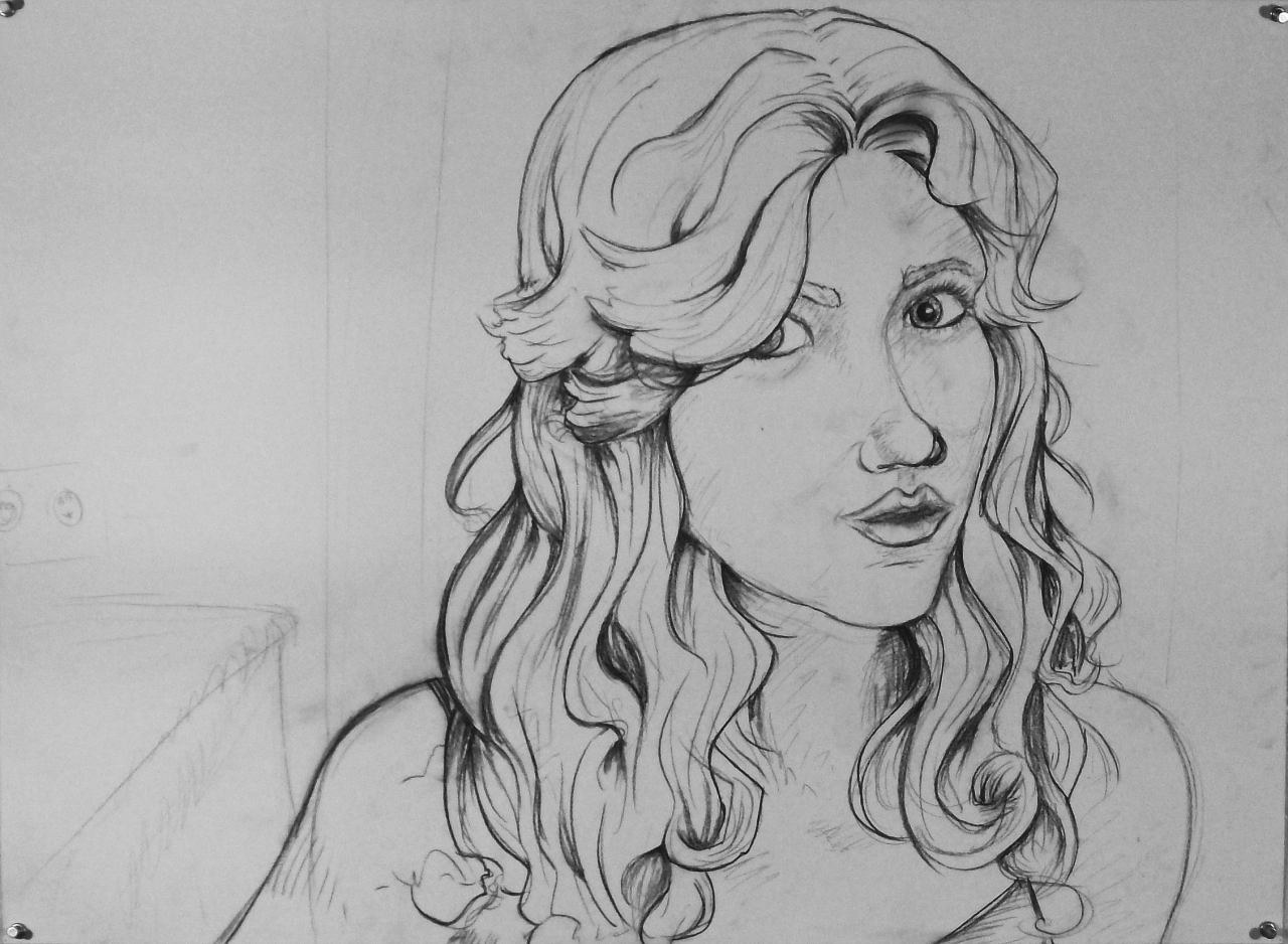 Basic Drawing 1 Self Portrait Controlled Contour