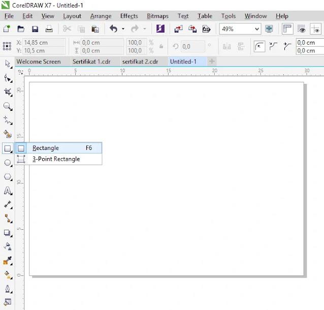 Download Template Sertifikat Coreldraw X7