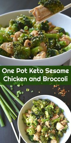 One Pot Keto Sesame Chicken and Broccoli #onepot #keto #sesame #chicken #broccoli #sidedish