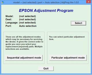 Epson Free Resetter Adjustment Program Epson L405