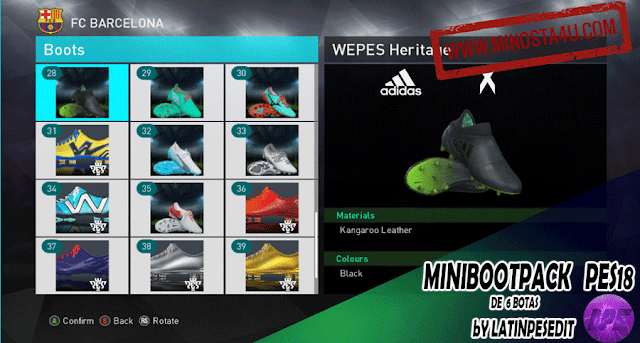 PES 2018 Mini Bootpack - HD Boots