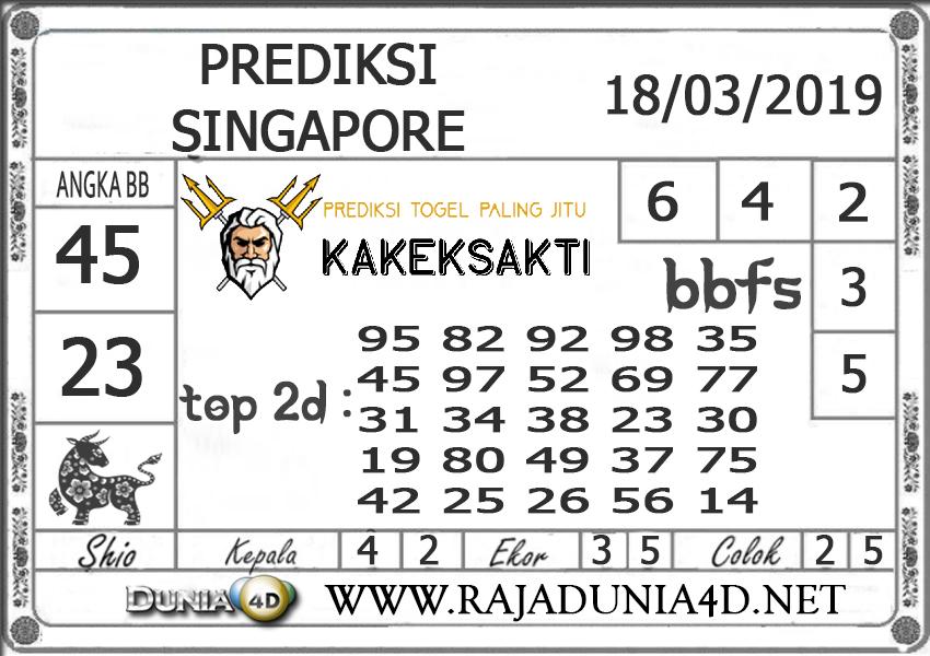 Prediksi Togel SINGAPORE DUNIA4D 18 MARET 2019