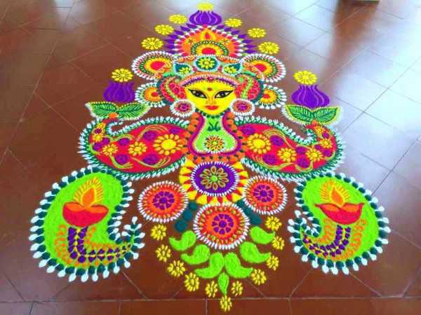 दीया रंगोली डिजाइन इमेज rangoli designs images, Rangoli Design for Diwali,diwali