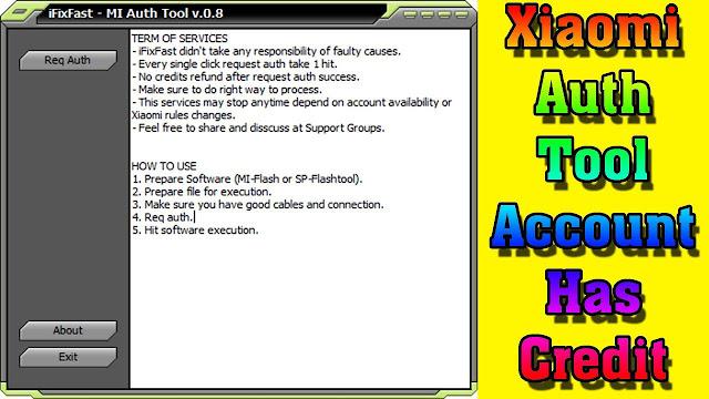 Download iFixFast -Mi Auth Tool v0.8