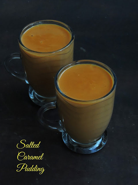Salted caramel pudding, Eggless caramel pudding