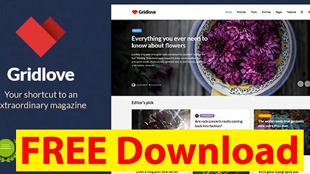 GRIDLOVE V1.9.7 – CREATIVE GRID STYLE NEWS & MAGAZINE WORDPRESS THEME DOWNLOAD