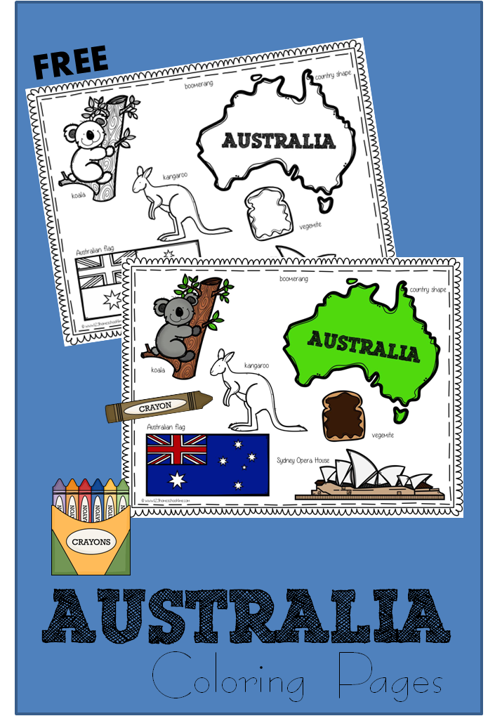 Free australia day coloring page for Australia day coloring pages