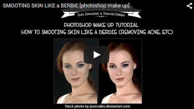 cara menghilangkan bekas jerawat & menghaluskan kulit [photoshop make up viodeo tutorial]