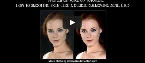 menghaluskan kulit [photoshop make up video tutorial]