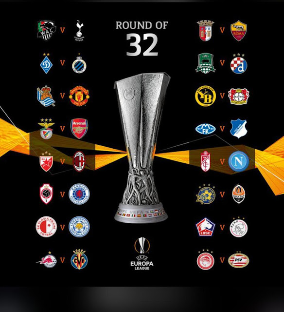 Europa League round of 32 full draw