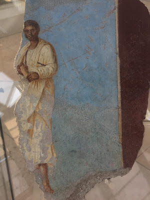 Catullus (English spelling)  depicted in a fresco found in the ruins.