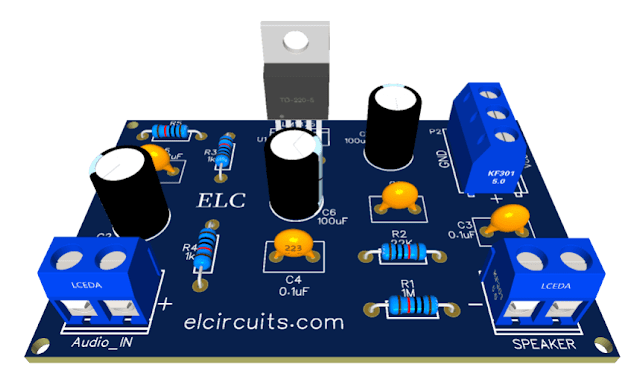 HI-FI 30W Audio Power Amplifier With IC LM1875 + PCB