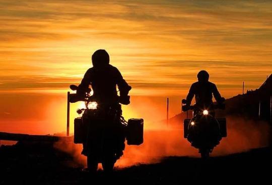 Adventure Bike Sunset