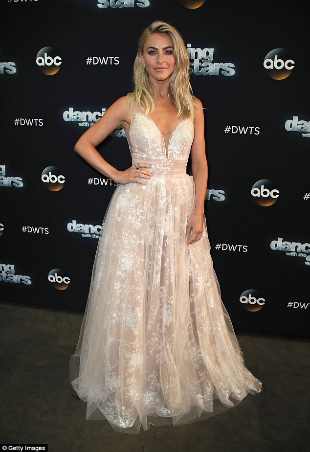 Julianne Hough wears plunging gown to the Dancing With The Stars Season Premiere